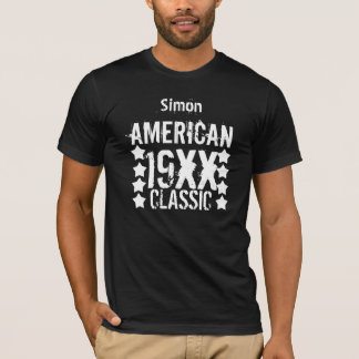 AMERICAN CLASSIC Birthday  Any Year and Name V01 T-Shirt