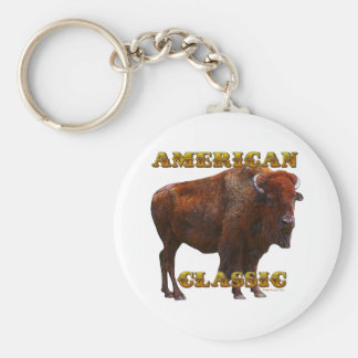 American Classic Buffalo by Fractal Tees(TM) Basic Round Button Keychain