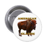 American Classic Buffalo by Fractal Tees(TM) Pinback Button