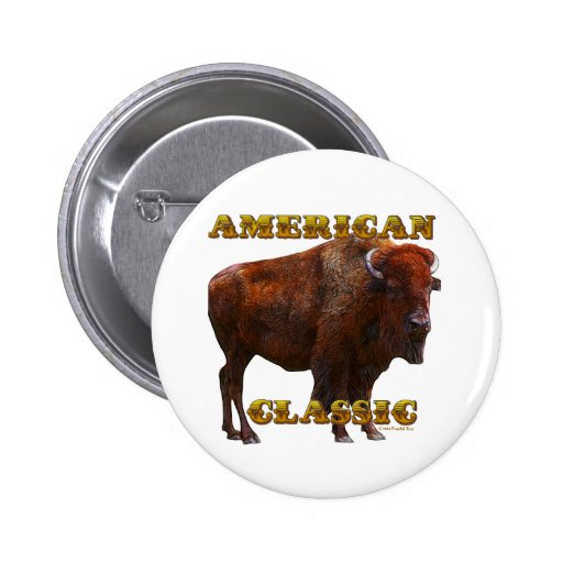 American Classic Buffalo by Fractal Tees(TM) Pins