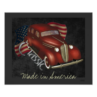 American Classic Car Poster Print