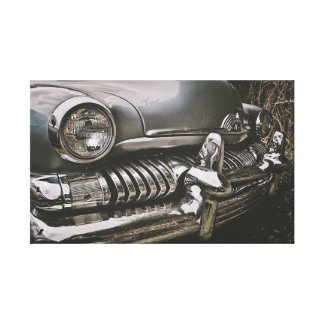 American classic cars stretched canvas prints