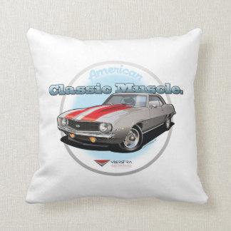 American Classic Muscle 1969 Camaro SS Throw Pillow