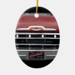 American Classic Double-Sided Oval Ceramic Christmas Ornament