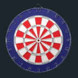 "American Classic White, Silver, Red, And Navy Blue Dartboard<br><div class=""desc"">American Classic White,  Silver,  Red,  And Navy Blue Colored Dart Board Game Including 6 Brass Darts</div>"