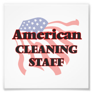 American Cleaning Staff Photo Print