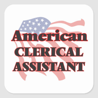 American Clerical Assistant Square Sticker