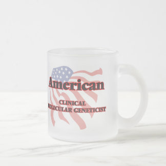 American Clinical Molecular Geneticist 10 Oz Frosted Glass Coffee Mug