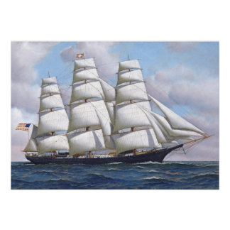 American Clipper Ship Flying Cloud Print