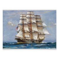American Clipper Sovereign of the Seas Poster