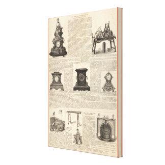 American Clock Company Lienzo Envuelto Para Galerias