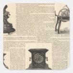 American Clock Company Calcomania Cuadradas Personalizada
