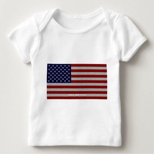 American Cloth Flag Baby T_Shirt
