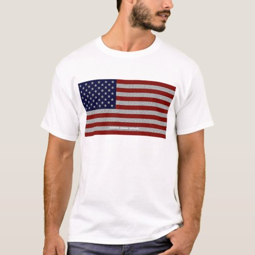 American Cloth Flag T_Shirt