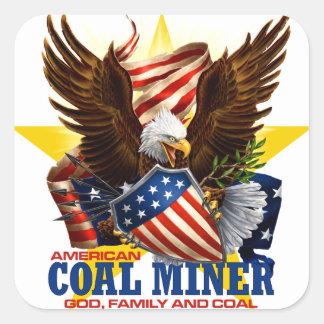 AMERICAN COAL MINER SQUARE STICKER