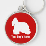 American Cocker Spaniel アメリカン・コッカー・スパニエル Silver-Colored Round Keychain