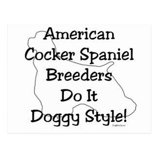 American Cocker Spaniel Breeders Postcard