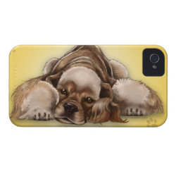 Case-Mate iPhone 4 Barely There Universal Case with Cocker Spaniel Phone Cases design