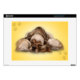 American Cocker Spaniel Buff Cocker Laptop Decal