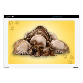 American Cocker Spaniel Buff Cocker Laptop Skin 17