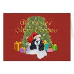 American Cocker Spaniel Christmas Card