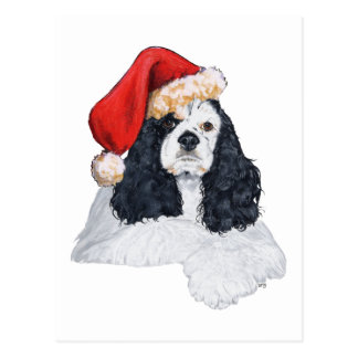 American Cocker Spaniel Christmas Post Cards