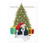 American Cocker Spaniel Christmas Postcards