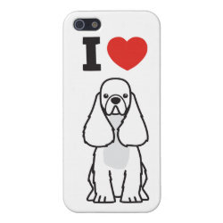 Case Savvy iPhone 5 Matte Finish Case with Cocker Spaniel Phone Cases design