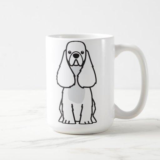American Cocker Spaniel Dog Cartoon Mugs