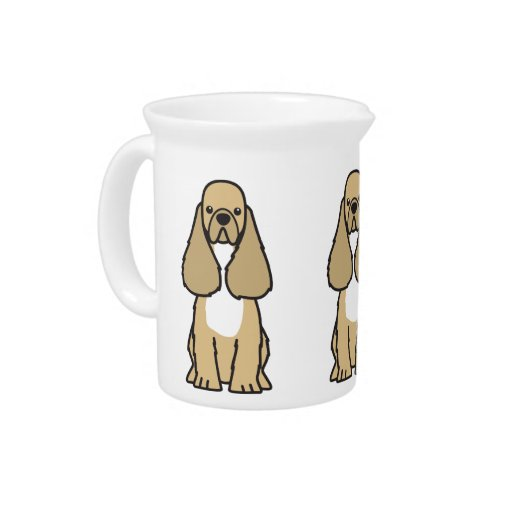 American Cocker Spaniel Dog Cartoon Pitchers