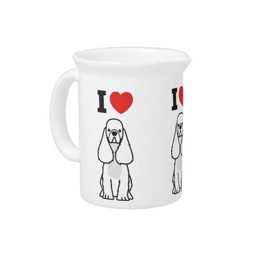 American Cocker Spaniel Dog Cartoon Beverage Pitchers
