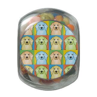 American Cocker Spaniel Dog Cartoon Pop-Art Jelly Belly Candy Jar