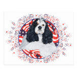 American Cocker Spaniel Flag Postcards
