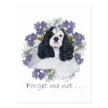 American Cocker Spaniel Forget Me Not Post Card