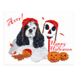 American Cocker Spaniel Halloween Postcards