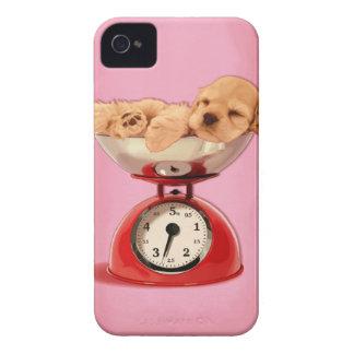 American cocker spaniel in retro kitchen scale iPhone 4 Case-Mate case