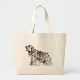 American Cocker Spaniel Large Tote Bag
