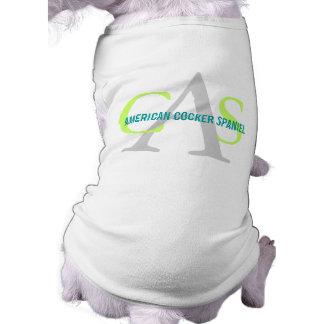 American Cocker Spaniel Monogram Doggie Tee Shirt
