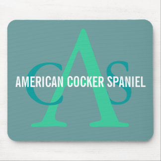 American Cocker Spaniel Monogram Mouse Pad