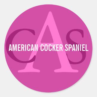 American Cocker Spaniel Monogram Sticker