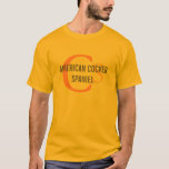 American Cocker Spaniel Monogram T-Shirt