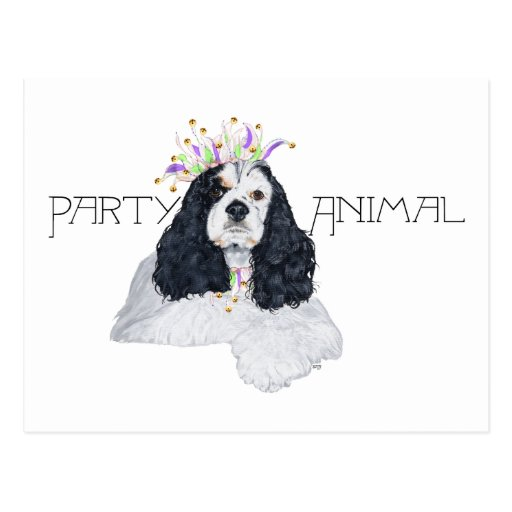 American Cocker Spaniel Party Animal Post Cards