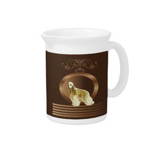 American cocker spaniel drink pitcher