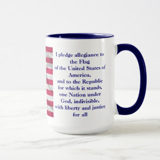 American Coffee Custom Pledge of allegiance Mug 15