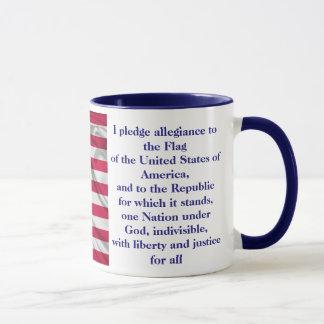 American Coffee Custom Pledge of allegiance Mug B
