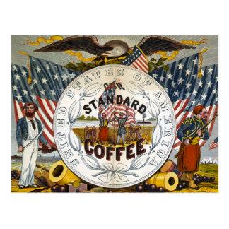 American Coffee Postcard