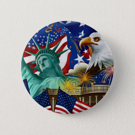 AMERICAN COLLAGE BUTTON