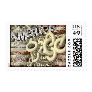 American Collage Postage Stamp