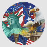 AMERICAN COLLAGE STICKERS