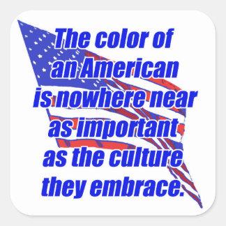 American color or culture square sticker
